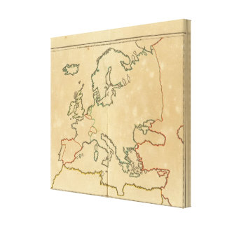Europe Outline 2 Canvas Print