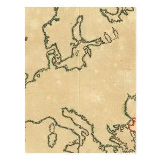 Europe Outline 2 Postcard