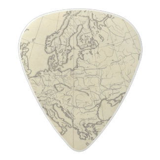 Europe outline map acetal guitar pick