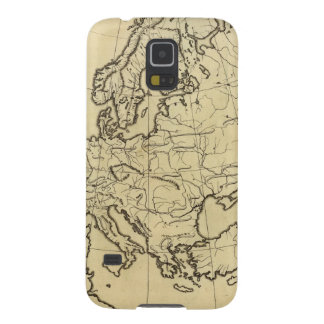 Europe outline map galaxy s5 cases