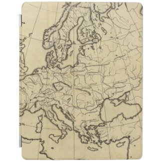 Europe outline map iPad cover