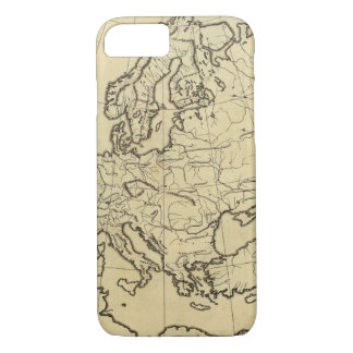 Europe outline map iPhone 8/7 case