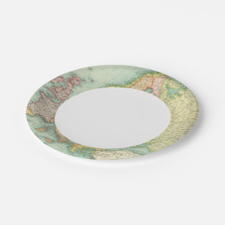 Europe political Map 7 Inch Paper Plate