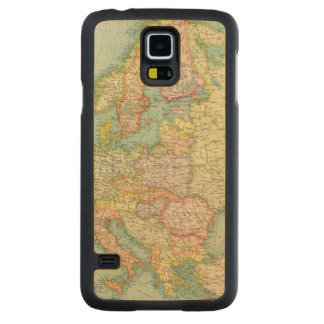 Europe political Map Carved Maple Galaxy S5 Case