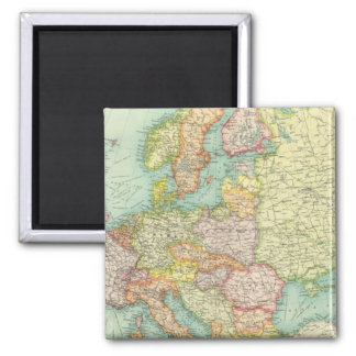 Europe political Map Square Magnet