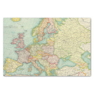 Europe political Map Tissue Paper