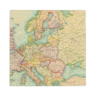 Europe political Map Wood Coaster