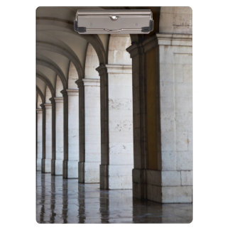 Europe, Portugal, Lisbon. Columns Of The Arcade Clipboard
