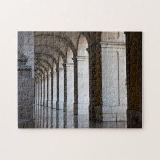 Europe, Portugal, Lisbon. Columns Of The Arcade Jigsaw Puzzle