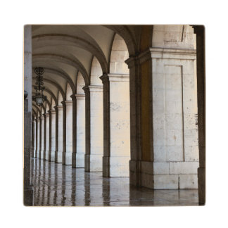 Europe, Portugal, Lisbon. Columns Of The Arcade Wood Coaster