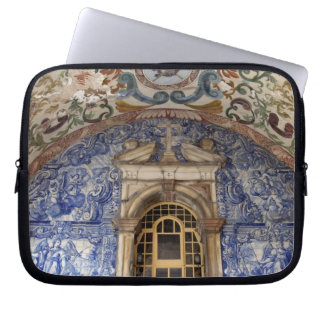 Europe, Portugal, Obidos. Colorful architectural Laptop Sleeve