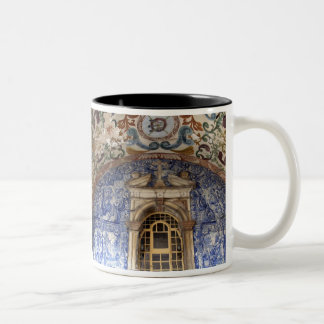 Europe, Portugal, Obidos. Colorful architectural Two-Tone Coffee Mug