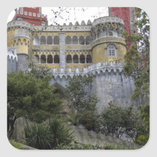 Europe, Portugal, Sintra. The Pena National 3 Square Sticker