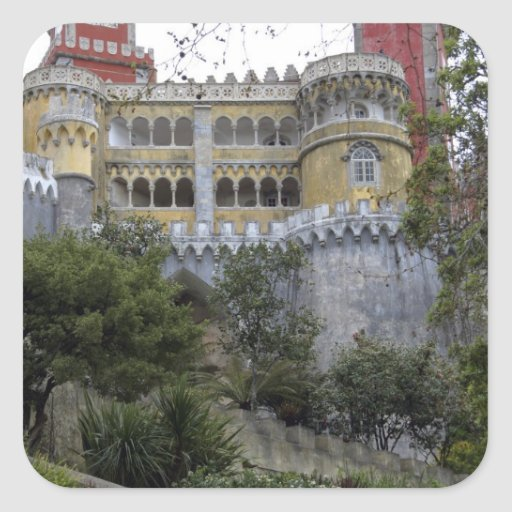 Europe, Portugal, Sintra. The Pena National 3 Square Stickers