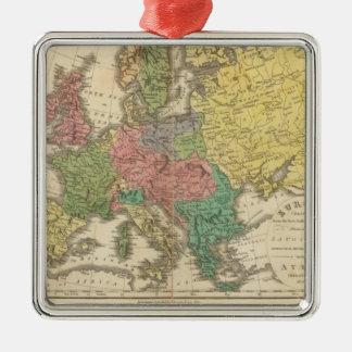 Europe Religion Atlas Map Christmas Ornament
