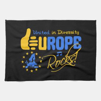 EUROPE ROCKS kitchen towel