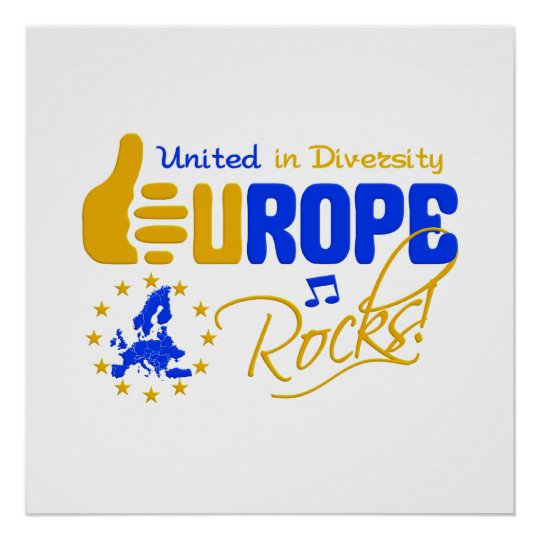 Europe Rocks! poster - customize!