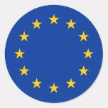 europe round stickers