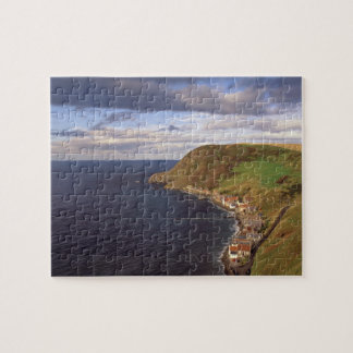 Europe, Scotland, Aberdeen. Overhead view of Jigsaw Puzzle