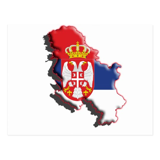 Europe: Serbia w/coat of arms Postcard