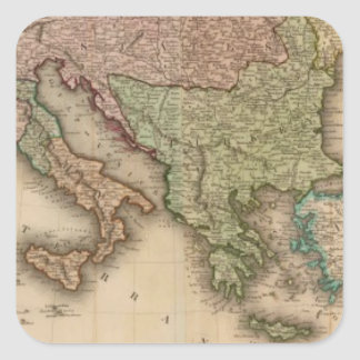 Europe south square sticker