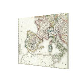 Europe Southwest Canvas Print