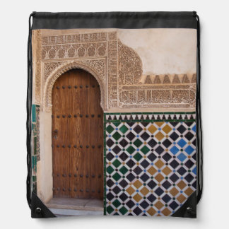 Europe, Spain, Andalusia, Granada, Alhambra Drawstring Bag