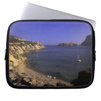 Europe, Spain, Balearics, Ibiza, Cala d'Hort Laptop Sleeve