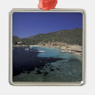 Europe, Spain, Balearics, Ibiza, Cala Salada. Christmas Ornament