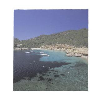 Europe, Spain, Balearics, Ibiza, Cala Salada. Notepad