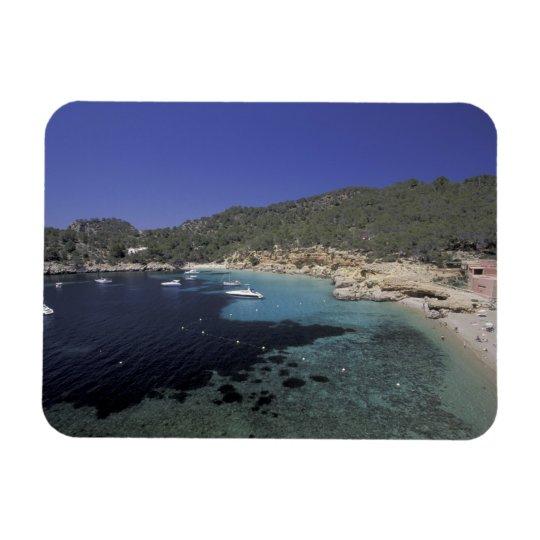 Europe, Spain, Balearics, Ibiza, Cala Salada. Rectangular Photo Magnet