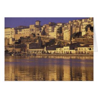 Europe, Spain, Balearics, Menorca, Mao. Dawn Card
