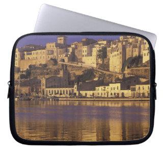 Europe, Spain, Balearics, Menorca, Mao. Dawn Laptop Sleeve
