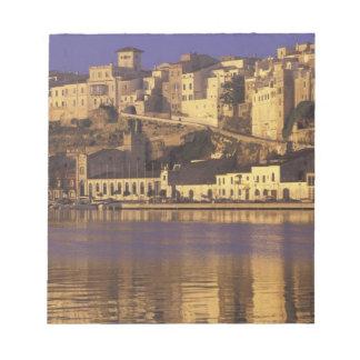 Europe, Spain, Balearics, Menorca, Mao. Dawn Notepad