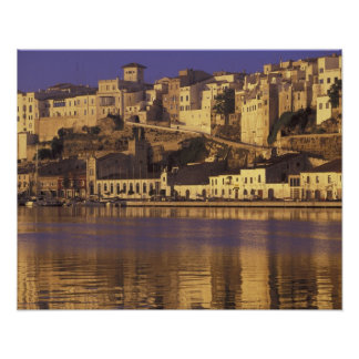 Europe, Spain, Balearics, Menorca, Mao. Dawn Poster