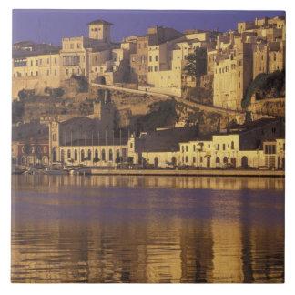 Europe, Spain, Balearics, Menorca, Mao. Dawn Tile
