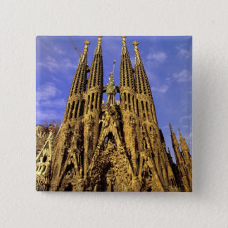 Europe, Spain, Barcelona, Sagrada Familia 15 Cm Square Badge
