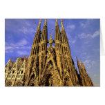 Europe, Spain, Barcelona, Sagrada Familia Greeting Card