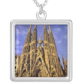 Europe, Spain, Barcelona, Sagrada Familia Silver Plated Necklace