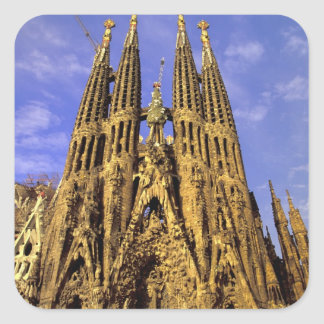 Europe, Spain, Barcelona, Sagrada Familia Square Sticker