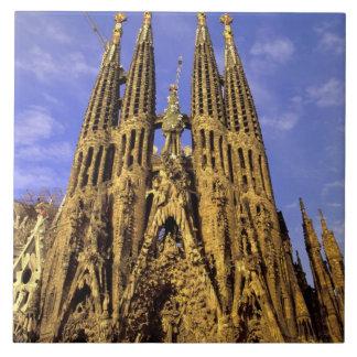 Europe, Spain, Barcelona, Sagrada Familia Tile