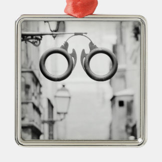 Europe, Spain, Mallorca. Eyeglass shop sign, Christmas Ornament