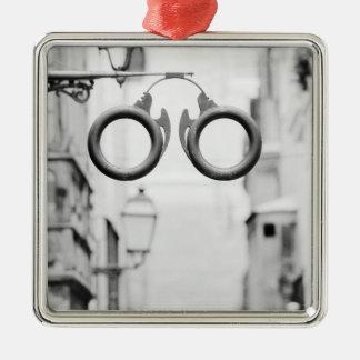 Europe, Spain, Mallorca. Eyeglass shop sign, Christmas Ornament