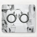 Europe, Spain, Mallorca. Eyeglass shop sign, Mouse Pad