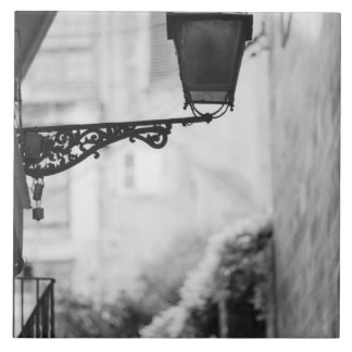 Europe, Spain, Mallorca. Street lamps, Palma Large Square Tile
