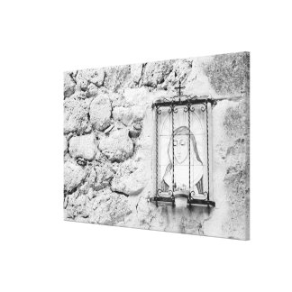Europe, Spain, Mallorca. The Holy Wall, Canvas Print