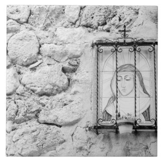 Europe, Spain, Mallorca. The Holy Wall, Tile