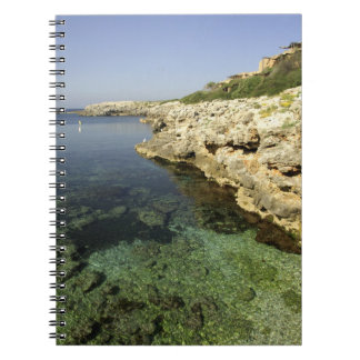 Europe, Spain, Minorca (aka Menorca), Binibeca. Spiral Notebook