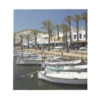 Europe, Spain, Minorca (aka Menorca). Fishing Notepad