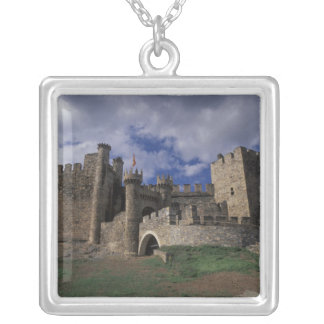 Europe, Spain, Ponferrada, Leon. Templer Silver Plated Necklace